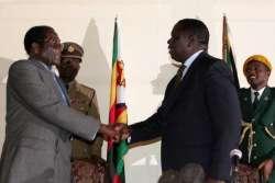 Mugabe handshake