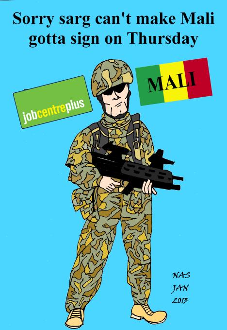 Job centre soldier