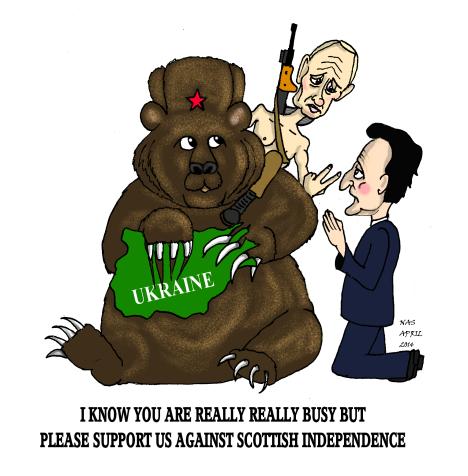 Russian bear cameron Putin
